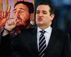 Two Opportunistic Demagogue Bullshitters (carajomundo1) Tags: fidel ted cruz cubans politics demagogues bullshit egos republicans demagoguery extremists cubanos lyingsacksofshit teaparty sex indexfinger fingerupyourass ass castro fascist communist reactionary radical populist rabblerouser opportunist bullshitartist kiss donald trumps