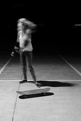 Skater Grace (rupial) Tags: motion movement candid portraiture skate greyscale stabilisation