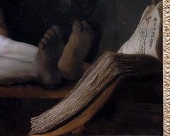 Rembrandt, The Anatomy Lesson of Dr. Tulp, detail with book