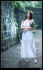nEO_IMG_DP1U4986 (c0466art) Tags: light portrait white flower girl beautiful face female forest canon eyes asia pretty outdoor body good gorgeous goddess figure attractive charming gym pure 1dx c0466art