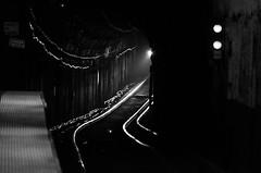 Oncoming Train (PAJ880) Tags: bw orange station boston subway ma line mbta haymarket