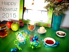 Happy Persian New Year #nowruz to all Iranians world wide. Not a perfect Haft Seen, but our first one.