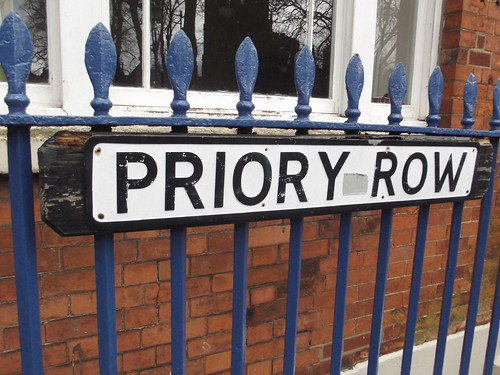 8 Priory Row, Coventry - road sign