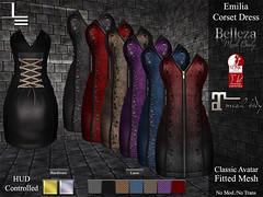 DE Designs - Emilia Corset Dress (de_designs) Tags: de sl secondlife designs belleza maitreya slink dedesigns fitmesh