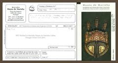 3937 MuMarLis Marinha Museu de Marinha Lisboa Porugal Ticket 13.IX.2013. (Morton1905) Tags: 3937 marinha museu de lisboa porugal ticket 13ix2013 mumarlis