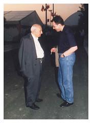 1992 - Festa dell'Unità, Carlo Serafini e il Senatore della Repubblica Arrigo Boldrini