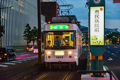 Tram (kmmanaka) Tags: japan evening sunny cruiseship kimono dogwood nagasaki