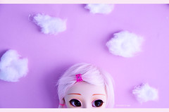 I have my head in the clouds ~ | Pullip Kirsche (Kumo~Milk^^) Tags: pink clouds doll eyelashes sugar wig groove gloss pullip kirsche obitsu eyechips junplanning rewigged rechipped