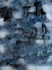 Messed Up World (dawn_macroart) Tags: abstract expressionism cubistinspired arty colour blue shape squares processing