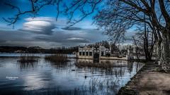 La Maison du Lac (Tra Te E Me (TTEM)) Tags: lumixfz1000 photoshop hdr lac banyoles reflets nuages ciel eau espagne catalogne