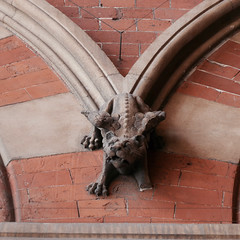 Winged lion (moley75) Tags: camden kingscross freize london midlandgrandhotel mythicalcreatures redbrick sculpture stpancras stpancrasstation wingedlion