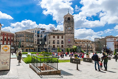 Ubeda Clouds (rossendgricasas) Tags: sky city street travel blue light clouds urban espaa andalusia arquitectura jan beda