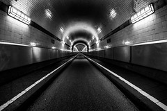 Time to dive in (zgr Grgey) Tags: bw lines architecture nikon geometry hamburg fisheye d750 cropped 12mm elbtunnel 2016 samyang