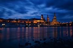 Dresdens blaue Stunde (SmoHoHo) Tags: dresden blauestunde elbe wasser fluss dampfer hofkirche wolken sonya58 sal1650
