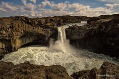 Aldeyarfoss (explore) (Anne.Berger) Tags: iceland island wasserfall waterfall landscape aldeyarfoss