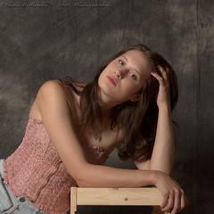 Kathryn Jordan (Dana Brady) Tags: comfortable model artistic unique fresh etobicoke youthful bustier homestudio jeanshorts pentaxk3 daveanddanaphotography