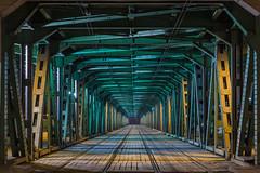 Gdaski Bridge - Warsaw (Mateusz Skoneczny ) Tags: architecture night construction tram poland most warsaw brigde gdanski gdaski