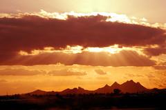 arizona (greenelent) Tags: sunset sun mountain az arizona light 365 photoaday