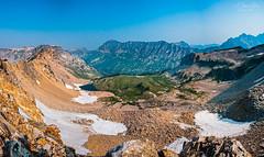 Paintbrush Divide (A Camera Story) Tags: panorama backpacking wyoming grandtetons nationalparks grandtetonnationalpark paintbrushdivide tamron1750mmf28 tetoncresttrail sonydslra700 paintbrushdividetrail