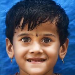 Cute Ciara (Sathish_Photography) Tags: portrait india girl beautiful smile kids fun eyes colours joy expressions karnataka udupi nikon85mm closeupshot primelens sathishphotography nikon750 sathishkumarphotography