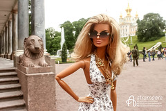 Peterhof (astramaore) Tags: peterhof petersburg eugenia going public 16 astramaore blonde tan tanned summer doll toy photography integrity toys sunglasses sunkissed necklace fountain