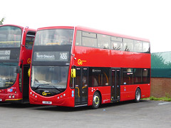 GAL OM1 - YJ16OBD - NSF - BX BEXLEYHEATH BUS GARAGE - FRI 22ND JULY 2016 (Bexleybus) Tags: go ahead goahead london optare metrodecker demonstrator prototype om1 yj16obd bx bexleyheath bus garage kent tfl route 486