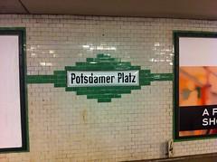 Potsdamer Platz subway station, Berlin (Per Olof Forsberg) Tags: potsdamer platz u ubahn underground subway metro station berlin bahn