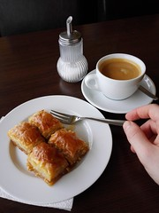 Baklava (ShadowLimburg) Tags: baklava gebäck kaffeestückchen