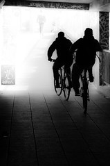 In to the light (Jonathan Vowles) Tags: leake london light tunnel cycle cyclist