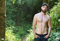 romualdcortes_romain_meribel0006 (cortesromuald) Tags: portrait nature naturel barbu torse bear bearded male homme modele casquette jean
