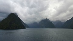 SOUNDS MOODY (Joan-Marie E) Tags: samsunggalaxys6edge fiordlandnationalpark fjord fiord wow shorescape
