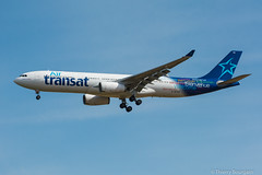 [CDG] AirTransat Airbus A330-342 _ C-GTSO (thibou1) Tags: thierrybourgain spotting aircraft airplane nikon d7100 tamron sigma cdg lfpg airtransat airbus airbusa330 a330 a330342 cgtso takeoff dcollage