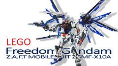 cover LEGO Freedom Gundam ZGMF-X10A (demon14082001) Tags: lego freedom gundam mobile suit seed moc creation zgmfx10a perfect grade robot mecha destiny nn trng