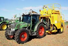 Fendt 211 and  Leda Mechanical Grape Harvester (Runabout63) Tags: fendt leda mildura tractor grape harveter