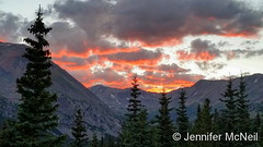 August 12, 2016 - Sunset as seen from Hoosier Pass. (Jennifer McNeil)