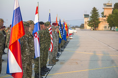 Standing in Formation (U.S. Army Europe) Tags: command nato unitedkingdom hungary multinational reserve newyork uk civil macedonia director croatia england royal affairs montenegro statenisland publicaffairs disaster humanitarian eucom airforce kosovo exercise partnership army flag usareur jeff bosniaandherzegovina slovenia partner immediateresponse cantor migration 353 strongeurope cerkljeobkrki