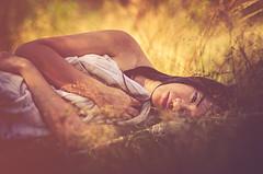 Sommerlicher Herbst (ChristinaWieck) Tags: gold herbst frau woman portrait wald sommer liegen sinnlich
