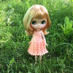 Chloe and her new dress