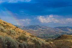 Gun Ranch Road (Dex Horton Photography) Tags: gunranchroad winthrop mazama wa washingtonstate rainbow sky storm rain sun valley methow okanagen color blue bestof dexhorton outside outdoors