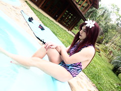 2016.09-09 (SamyOliver) Tags: samycd samyoliver samanthaoliver samy samantha married shemale redhead genderfluid crossdress crossdresser transformista pool oliver nature bodysuit tranny boytogirl transvestite brazilian