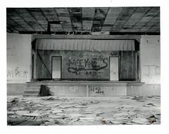 (.tom troutman.) Tags: polaroid land 250 fuji fp 3000b blackandwhite instant film abandoned nc school
