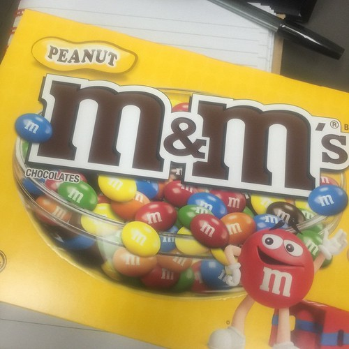 This afternoon Fifikins is brought to you by Peanut M&Ms.