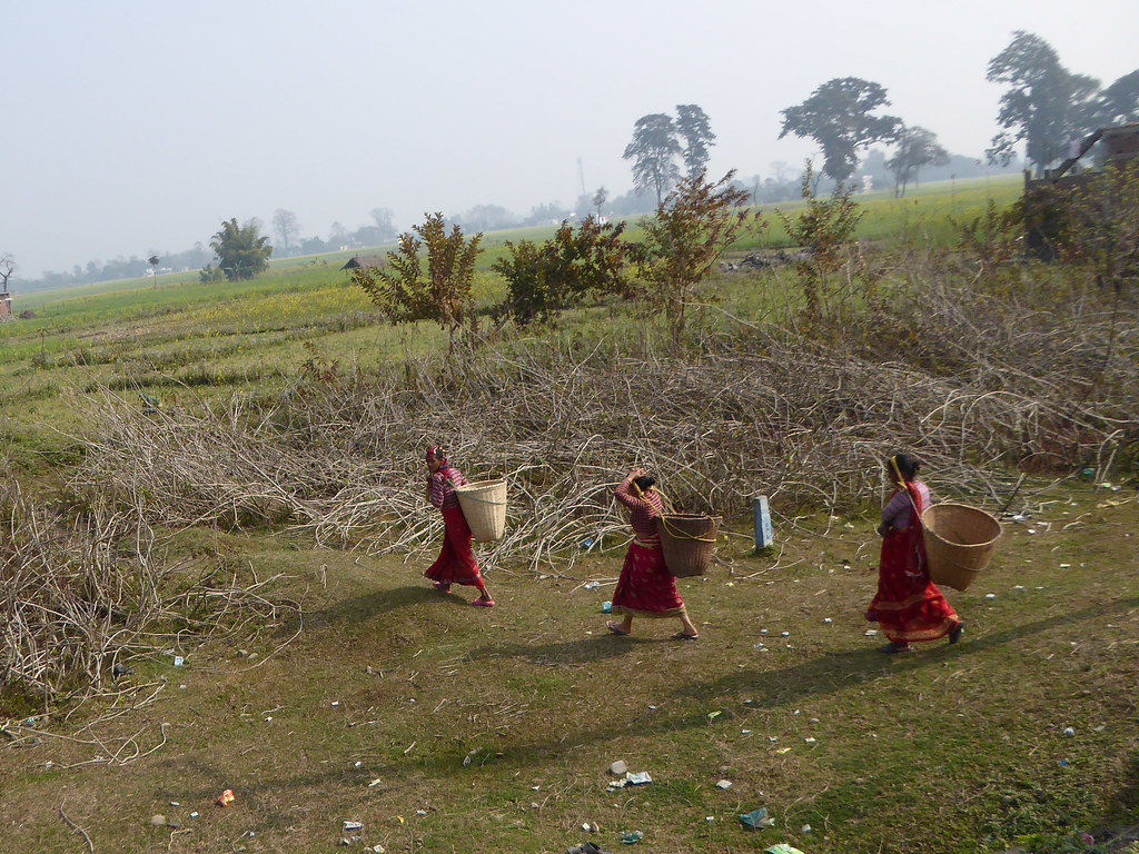 Locals carrying their loads