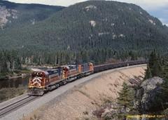 .(SEE & HEAR) QCM, Cartier 84-86-74 MP23.9 QUE. 9-17-2000 (jackdk) Tags: railroad train cartier railway locomotive ore taconite ironore alco mlw portcartier qcm oretrain c636 m636 mlw636 alcoc636 mlwm636 quebeccartiermining cartiermining