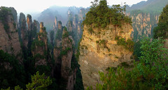 Same Same But Different (Don Csar) Tags: china green nationalpark high avatar formation soldiers peaks karst hunan montaas zhangjiajie tianzi