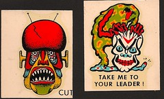 1960's Impko Cutie/Take Me To Your Leader Decals (Donald Deveau) Tags: monsters decal transfer takemetoyourleader impko