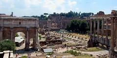 Forum Romanum (Roman Forum), Arco di Settimio Severo (Arch of Septimius Severus), Tempio di Saturno (Temple of Saturn) (PhotoHenning) Tags: ruins arch pillar columns arches column pillars retouched