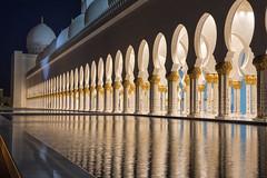 Sheikh Zayed Grand Mosque, Abu Dhabi. (miketonge) Tags: reflections uae mosque abudhabi nightime sheikhzayedgrandmosque