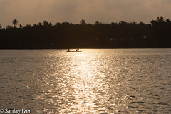 Rowing home at sunset (S Sanjay Iyer) Tags: seascape landscape flickr cannanore