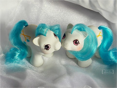 ~ Baby Dangles ~ (.~Sui~.) Tags: baby cute vintage earth twin pony newborn g1 mlp mylittlepony